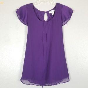 Motherhood Maternity purple blouse M